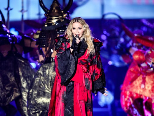 Madonna performs at her Rebel Heart tour at Joe Louis