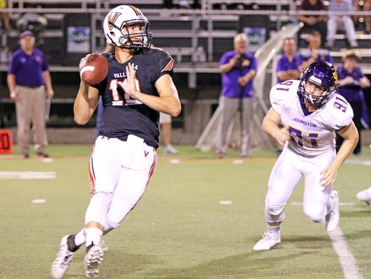 Beau Lombardi will take the reigns of the West Des Moines Valley offense for the second year in a row this fall. Now a senior, Lombardi threw for 1,688 yards and 12 touchdowns in 2017.