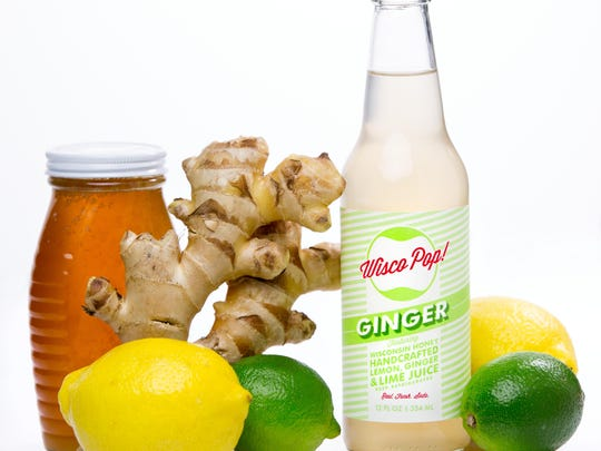 Wisco Pop's ginger soda includes a blend of lemon-lime flavors.