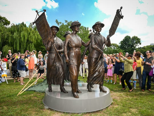 The Tennessee Woman Suffrage Monument was unveiled