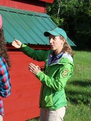 Vermont Fish and Wildlife biologist Alyssa Bennett