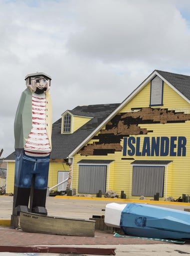 A view just after Hurricane Harvey of the Islander in Port Aransas.