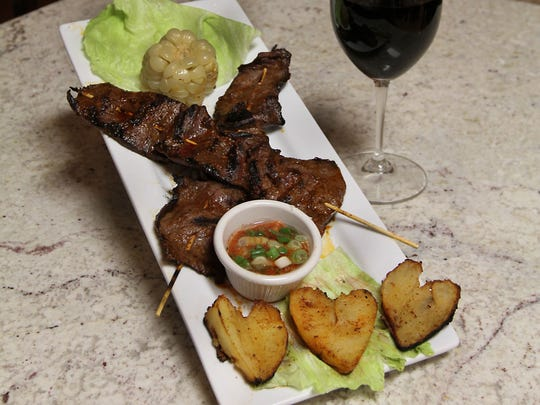 Aji Limon is one of the area's only restaurants to serve anticuchos de corazon, or skewered beef hearts, on the everyday menu.
