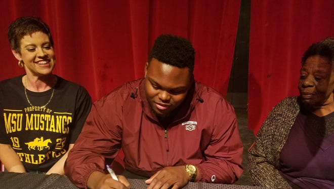 Wichita Falls High School senior Michael Nash signed a letter of intent to play football at Midwestern State University on Wednesday. Nash was a three-year starter for the Coyotes and the 2015 Red River 22 Defensive MVP. He also made the Red River 22 team as a senior.