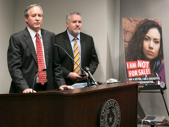 Texas Attorney General Ken Paxton called sex trafficking
