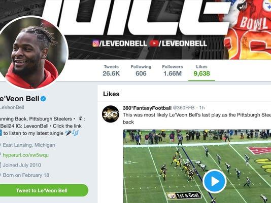 Le'Veon Bell liked a tweet about his 'last play' with the Steelers