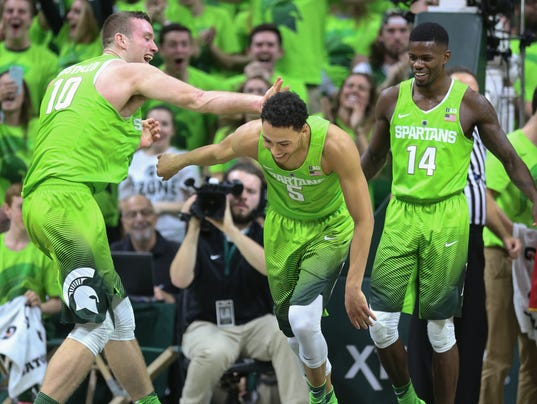 Spartans' lime basketball uniforms are done, but others ...