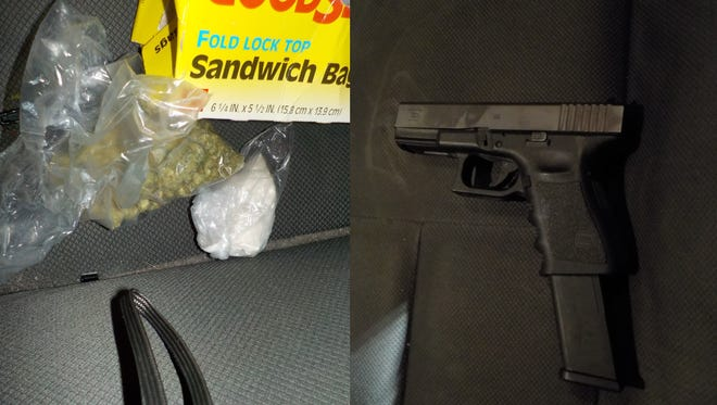 Metropolitan police arrested a 17 year old on drug and gun charges after a confrontation at a west-side nightclub early Sunday.
