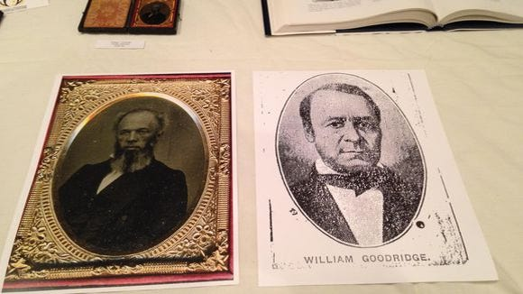 The image, right, of William C. Goodridge was the only known picture of the prominent York businessman for decades. Recently, the photo, left, believed to be an image of an older Goodridge, has been discovered.