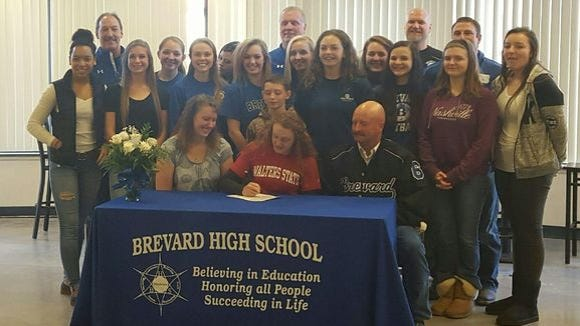 Brevard senior Casey Gilbert has signed to play college softball for Walters State (Tenn.).
