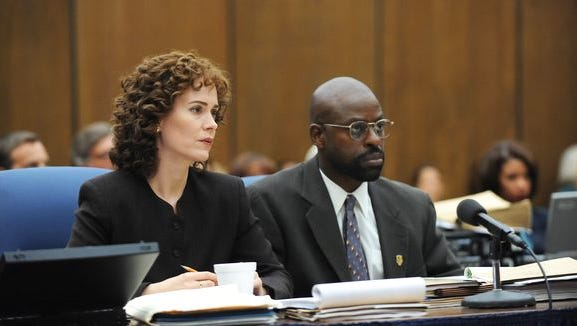"The prosecution from ""The People v. O.J. Simpson"" mini-series. Sarah Paulson portrays Marcia Clark."