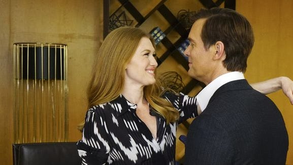 "Mireille Enos and Peter Krause star in ""The Catch"" on ABC."