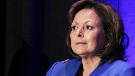 In this Jan. 7, 2016 file photo, New Mexico Gov. Susana Martinez discusses her priorities for the 2016 legislative session during a panel discussion with business leaders in Albuquerque, N.M.