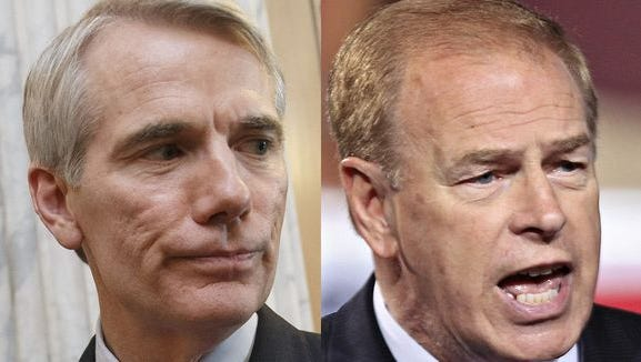 GOP incumbent Sen. Rob Portman, of Terrace Park, and his challenger former Gov. Ted Strickland, a Democrat
