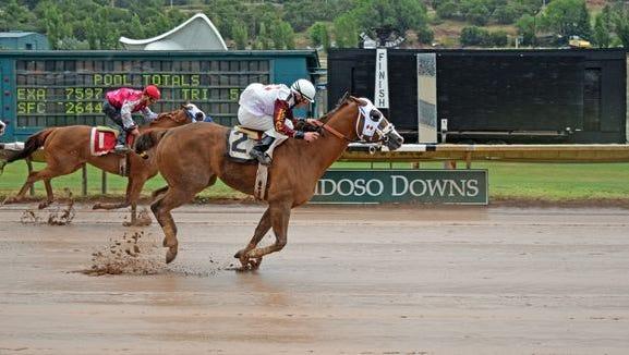 Daring And Dashing won a stakes race Saturday in Ruidoso.