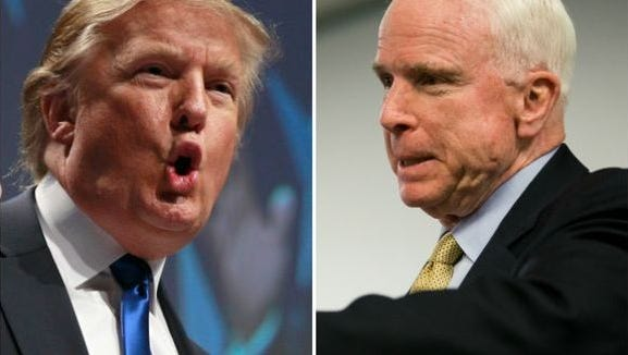 Even at the Grand Canyon John McCain can't get away from Donald Trump
