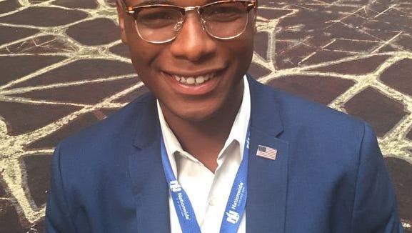 Miami University student De'Vante Montgomery was a Hillary Clinton delegate.
