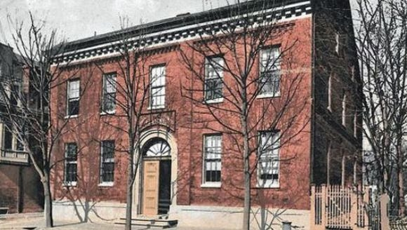 The old York County Academy building, 1787 vintage,
