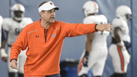Kevin Steele, who is in his first year as Auburn's