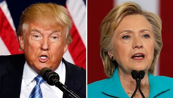 Presidential candidates Donald Trump and Hillary Clinton will face each other in three presidential debates.