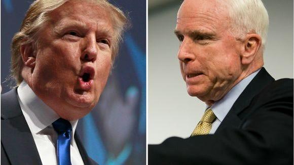 Donald Trump and his adversary (?) John McCain
