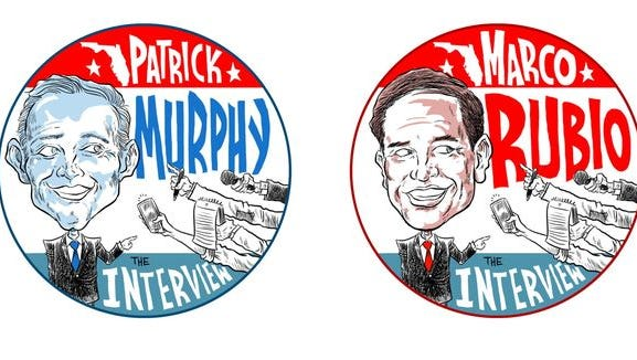 The PNJ will join its sister papers in hosting live interviews of Rubio and Murphy.