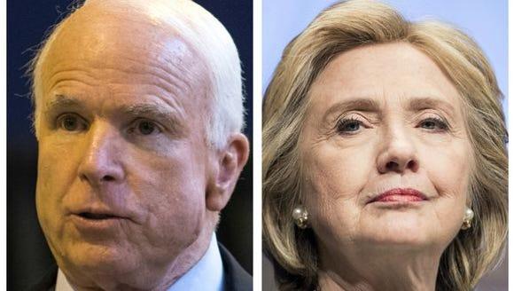 John McCain and Hillary Clinton