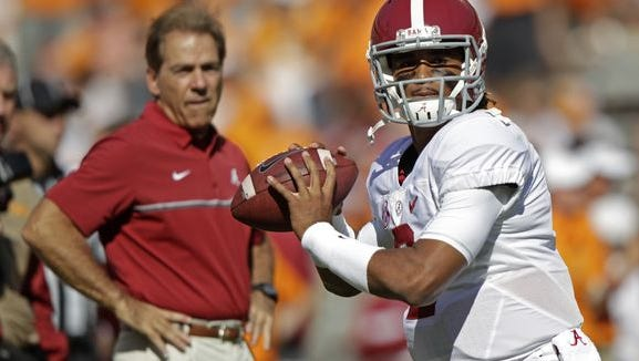 Jalen Hurts has excelled in Alabama's offense as the true freshman quarterback has 2,168 passing yards and 19 touchdowns and 803 yards rushing and 11 rushing touchdowns this season.