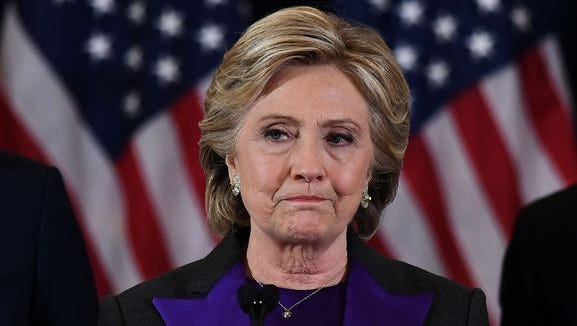 Hillary Clinton delivers her concession speech on Nov. 9 in New York City after losing to GOP rival Donald Trump.