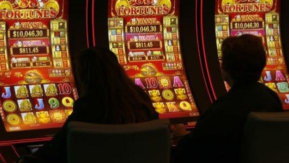 Inside Desert Diamond casino.