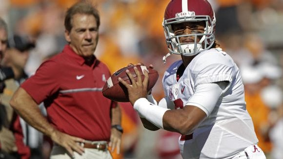 True freshman Jalen Hurts could become the first African-American quarterback to lead Alabama to a national championship.