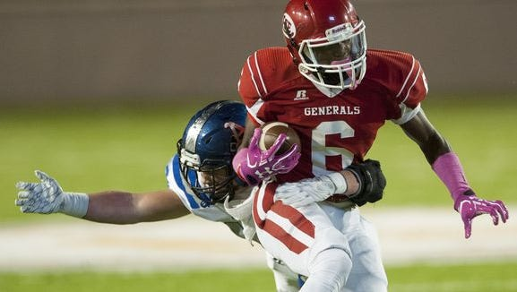 Henry Ruggs scored 20 times on just 102 touches in nine games his senior season for Robert E. Lee High in Montgomery.