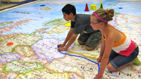 The Geographic Alliance at the University of Mississippi is sponsoring the National Geographic tour of a giant traveling map of Europe to schools in the state.