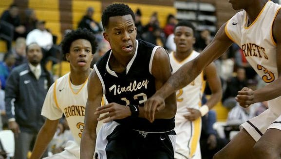 Junior Eric Hunter of Indianapolis Tindley will be at Tiernan Center Saturday for the IHSAA Class A Semistate game against New Washington.