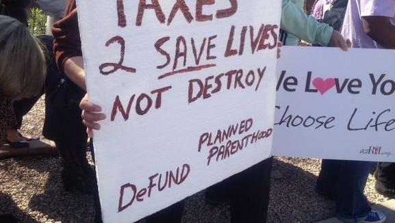 Scene from a rally in Phoenix.