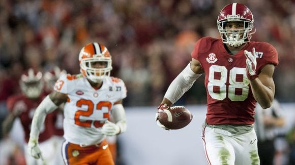 ESPN analyst Todd McShay projects the Jacksonville Jaguars taking O.J. Howard fourth overall in next month's NFL Draft in Philadelphia.