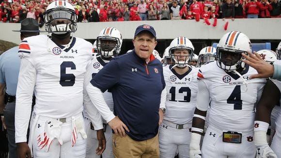Gus Malzahn disagrees with the NCAA rule that prevents a university from signing players at a high school for two years after it hired a coach from that high school,