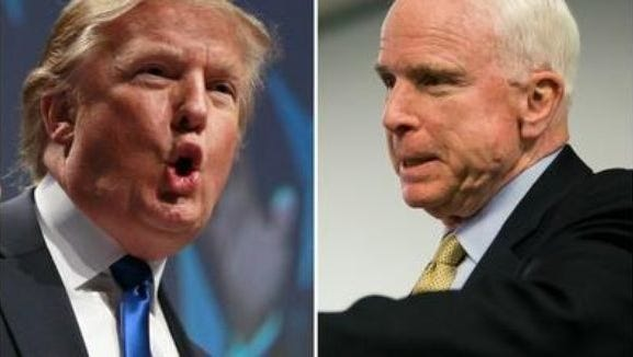 President Donald Trump and Sen. John McCain.