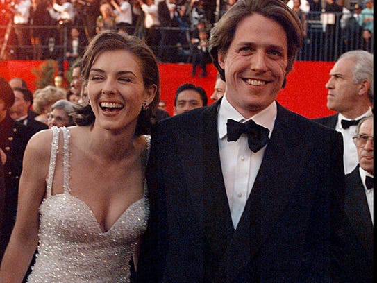 Back in the day: Elizabeth Hurley and Hugh Grant at