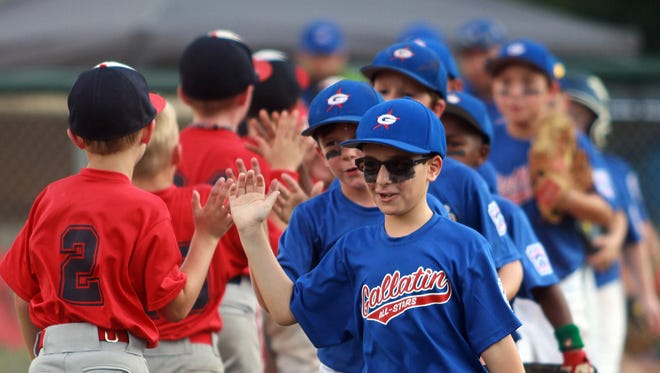 The Gallatin American Legion Little League 7-8-year-old all-star team shakes hands with South Jefferson after its 14-3 victory on Sunday afternoon.