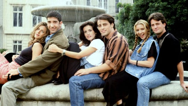 Jennifer Aniston, David Schwimmer, Courtney Cox, Matt LeBlanc, Lisa Kudrow and Matthew Perry starred in 'Friends.' It began airing in 1994.