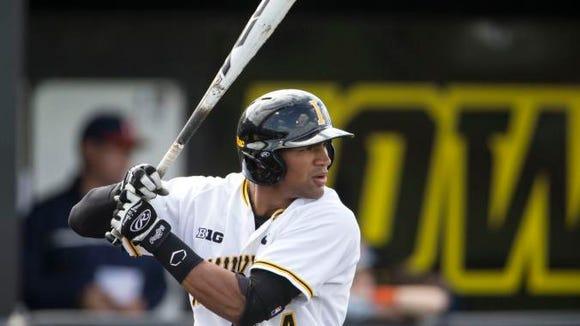Polk County alum Joel Booker is a junior on the Iowa baseball team.
