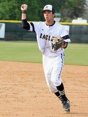 Abilene High second baseman Marcus Romero throws the