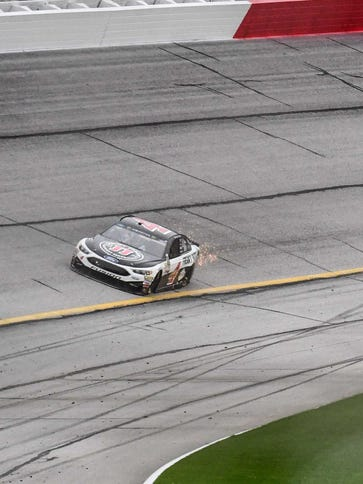 Drivers like the aged, abrasive surface at Atlanta