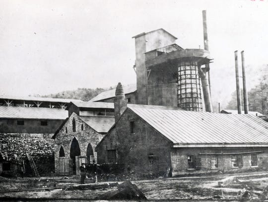 Mont Alto Iron Works in the late 1880s.