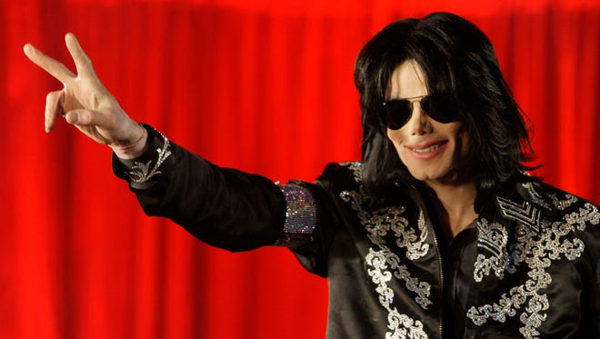 Michael Jackson in March 2009 in London, just before his death.