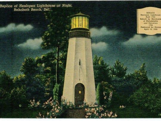 Henlopen Lighthouse postcard.