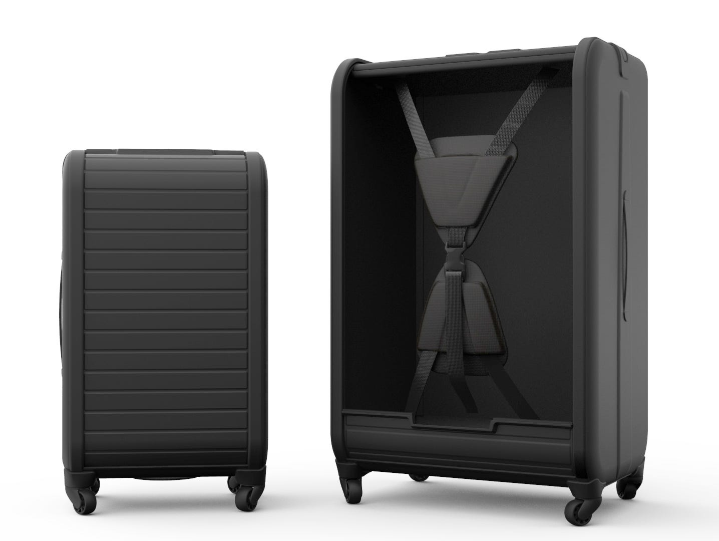 Trunkster features a groundbreaking rolltop door, GPS, scale and USB charger.