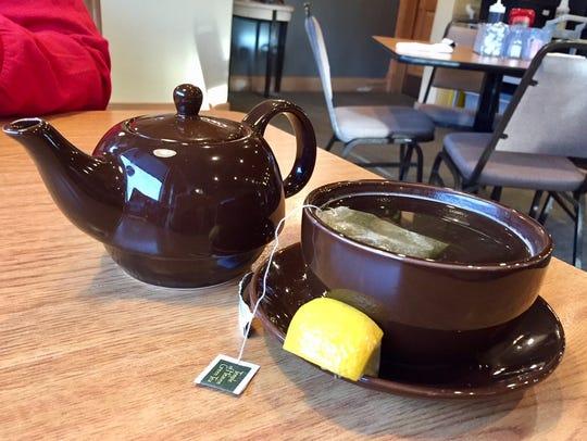 Green tea at Judi's Place in Oostburg.