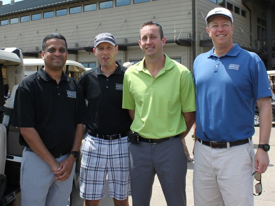 Victoria golf The Vanderbugh County Medical Center annual golf scramble was held at Victoria National Golf Course recently. Second place winners from left are Drs. Dharmesh Patel, Tony Kaiser, Jay Woodland and Roger Shinnerl.